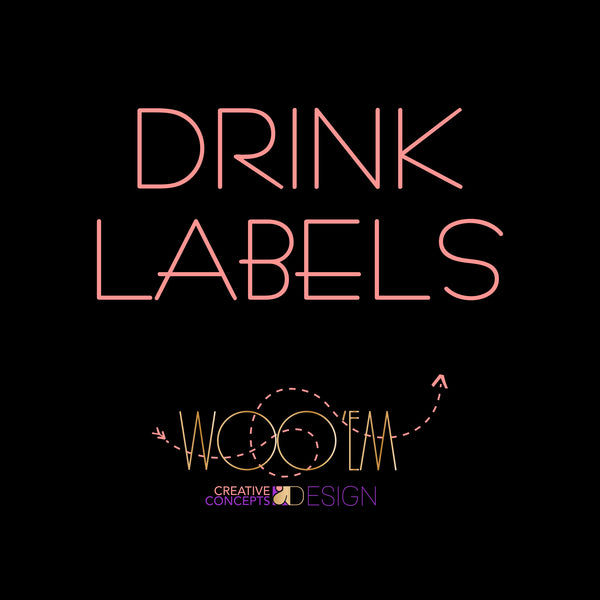 Add-on: Drink Label Design Digital File