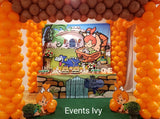 Pebbles Flintstones 8x8 Table Banner Backdrop with 8ft Table Wrap, Design, Print & Ship!