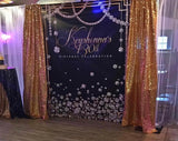 Dripping Diamonds 6x8 Banner Backdrop/ Step & Repeat Design, Print and Ship!