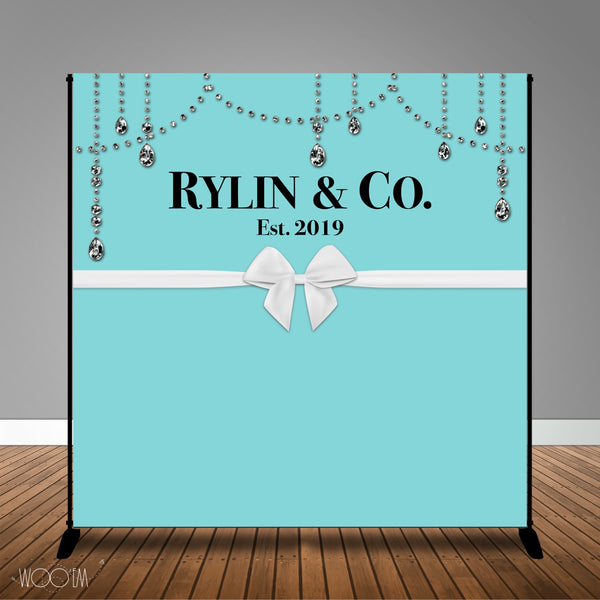 Blue & Co 8x8 Backdrop / Step and Repeat, Design, Print and Ship!