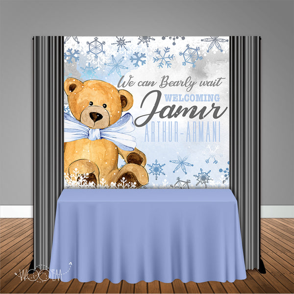 Bearly Wait Winter 6x6 Banner Backdrop Design, Print and Ship!
