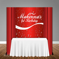 Coca Cola themed 5x6 Table Banner Backdrop, Design, Print and Ship!