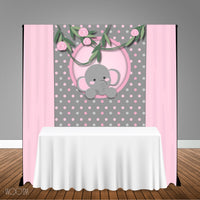 Elephant Themed 5x6 Table Banner Backdrop/ Step & Repeat, Design, Print and Ship!
