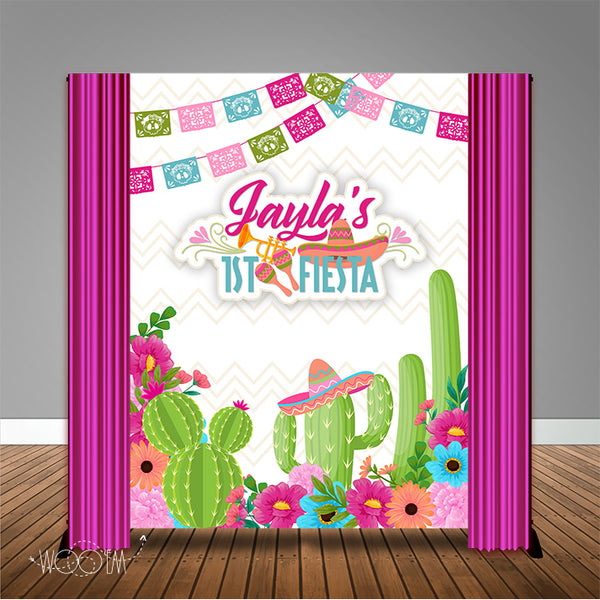 First Fiesta 6x8 Banner Backdrop/ Step & Repeat Design, Print and Ship!