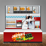 Good Burger 8x6 Table Banner Backdrop with 8ft Table Wrap/ Step & Repeat, Design, Print and Ship!