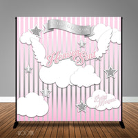 Heaven Sent- Angel of Mine Baby Shower Banner Backdrop/ Step & Repeat Design, Print and Ship!