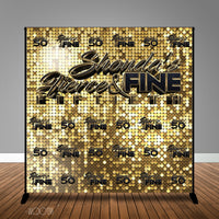 Fierce and Fine 40th 50th Birthday 8x8 Backdrop/Step & Repeat, Design, Print and Ship!