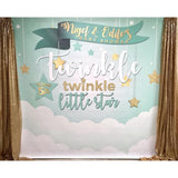 Twinkle Little Star Baby Shower Banner Backdrop/ Step & Repeat Design, Print and Ship!