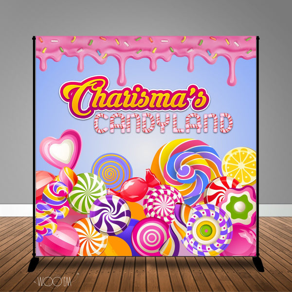 CandyLand Themed Banner Backdrop/ Step & Repeat, Design, Print and Ship!