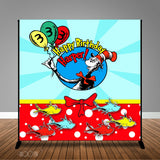Dr. Seuss Themed Birthday 8x8 Banner Backdrop/ Step & Repeat, Design, Print and Ship!