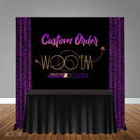 Custom 5x6 OR 6X6 Table Banner Backdrop/ Step & Repeat, Design, Print and Ship!