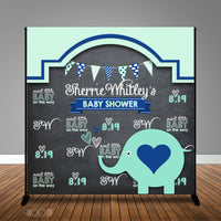 Elephant Baby Shower Backdrop/Step & Repeat, Design, Print and Ship!