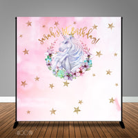 Unicorn Magic Themed, 8x8 Backdrop / Step & Repeat, Design, Print and Ship!
