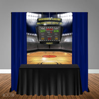 Basketball Themed 5x6 Table Banner Backdrop/ Step & Repeat, Design, Print and Ship!