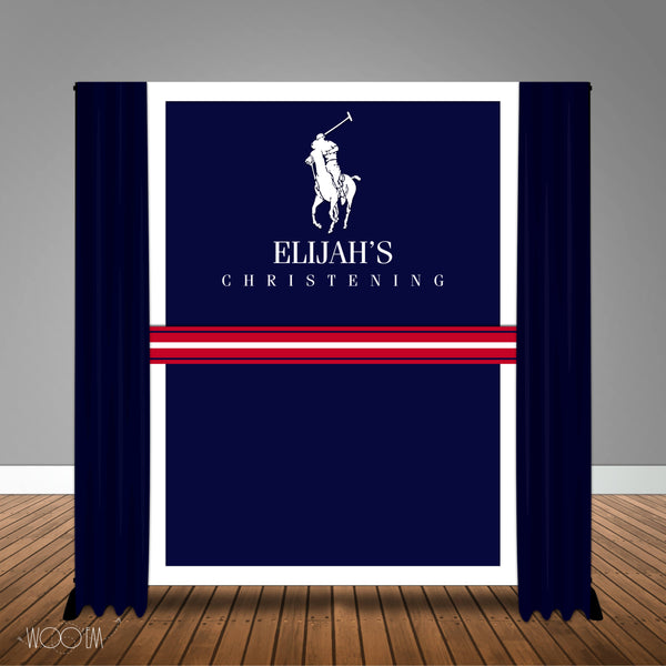 Polo themed 6x8 Backdrop / Step & Repeat, Design, Print and Ship!