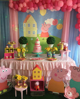 Peppa Pig Themed 5x6 Table Banner Backdrop/ Step & Repeat, Design, Print and Ship!