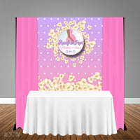 Ready to Pop 5x6 Table Banner Backdrop/ Step & Repeat, Design, Print and Ship!