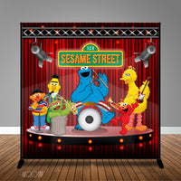 Sesame Street Band Birthday 8x8 Banner Backdrop/ Step & Repeat Design, Print and Ship!