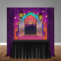 Moroccan Arabian Nights Themed 6x6 Banner Backdrop/ Step & Repeat, Design, Print and Ship!