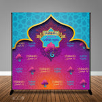 Arabian Nights Moroccan Banner Backdrop/ Step & Repeat, Design, Print and Ship!