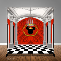 Royal Mickey Mouse Birthday 8x8 or 10x8 Table Backdrop, Design, Print and Ship!