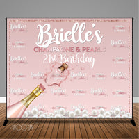 Champagne Pearls 10x8 Backdrop / Step & Repeat, Design, Print and Ship!
