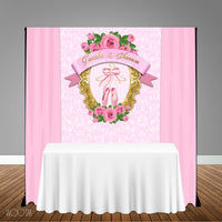 Ballerina themed 5x6 Table Banner Backdrop/ Step & Repeat, Design, Print and Ship!