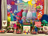 Trolls themed 5x6 Table Banner Backdrop/ Step & Repeat, Design, Print and Ship!