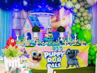 Puppy Dog Pals 8x8 Table Banner Backdrop with 8ft Table Wrap/ Step & Repeat, Design, Print and Ship!