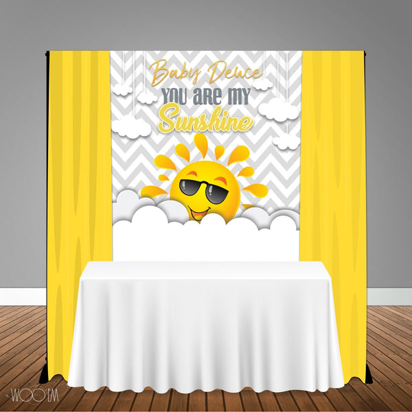 My Sunshine 5x6 Table Banner Backdrop/ Step & Repeat, Design, Print and Ship!