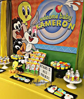 Looney Baby Tunes 5x6 Table Banner Backdrop/ Step & Repeat, Design, Print and Ship!