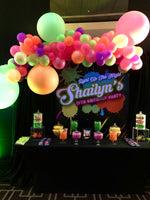 Glow 5x6 Table Banner Backdrop/ Step & Repeat, Design, Print and Ship!
