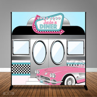 1950's Diner 8x8 Backdrop / Step & Repeat, Design, Print and Ship!