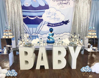 Hot Air Balloon 8x8 Themed Baby Shower Banner Backdrop/ Step & Repeat Design, Print and Ship!