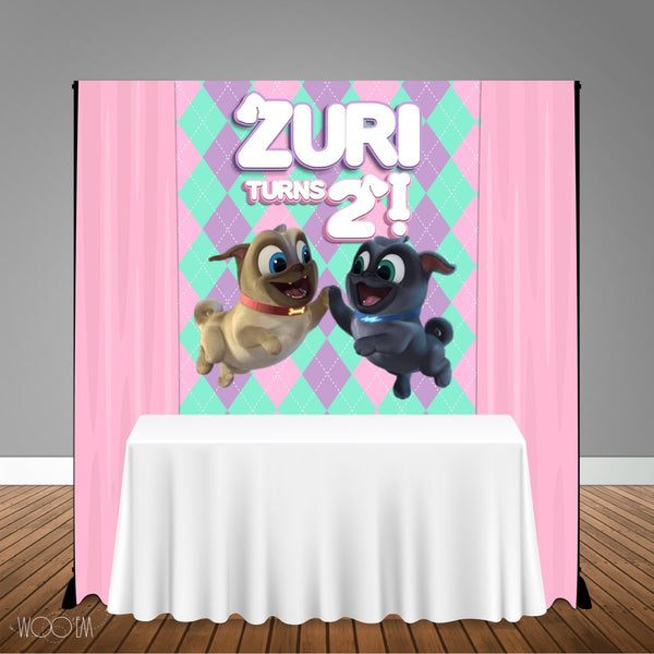 Puppy Dog Pals Girl 5x6 Table Banner Backdrop/ Step & Repeat, Design, Print and Ship!