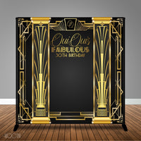 Gatsby Themed 8x8 Backdrop; Design, Print and Ship!