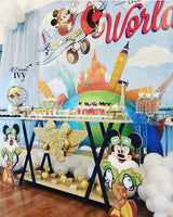 Vintage Travel Mickey Mouse 8x8 Backdrop / Step & Repeat, Design, Print and Ship!