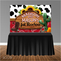 Rodeo Western Themed 6x4 Candy Buffet Table Banner Backdrop/ Step & Repeat, Design, Print and Ship!