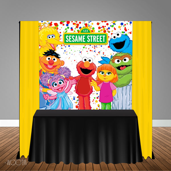 Sesame Street Party 6x6 Banner Backdrop/ Step & Repeat Design, Print and Ship!