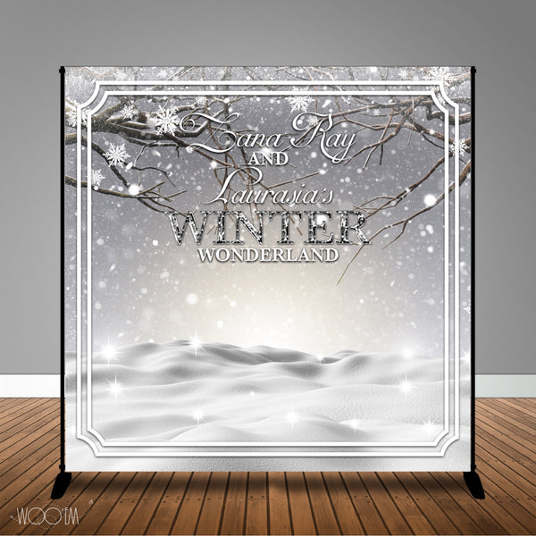 Winter Landscape Banner Backdrop Design, Print and Ship!