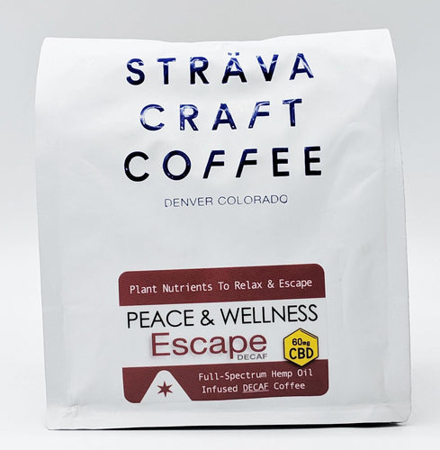 60mg CBD Infused Whole Bean Decaf Coffee