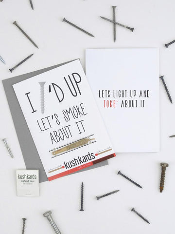 """Screwed Up"" Greeting Card"
