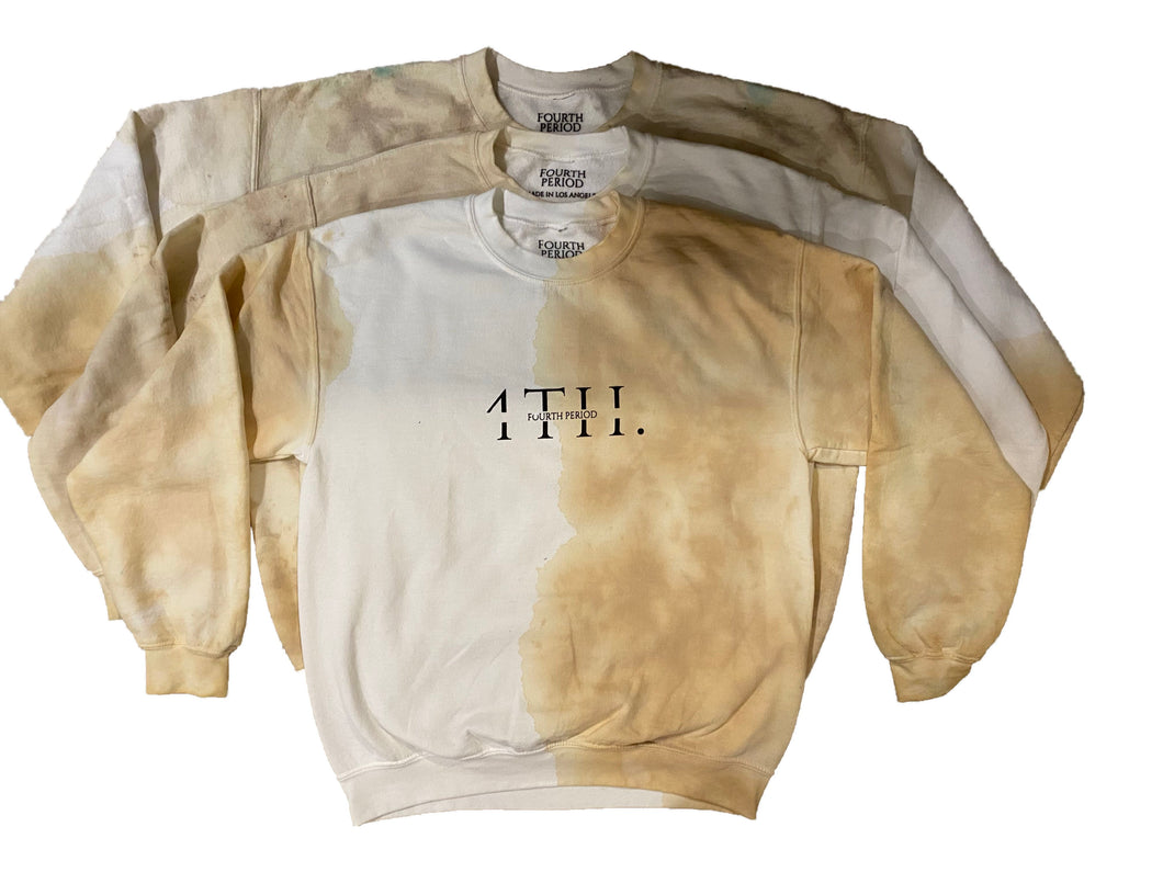 Coffee + Cream Hand Dyed Sweatshirts