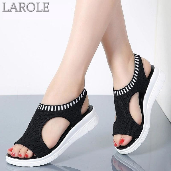 Woman Summer Wedge Comfortable  Slip-on Flat Sandals