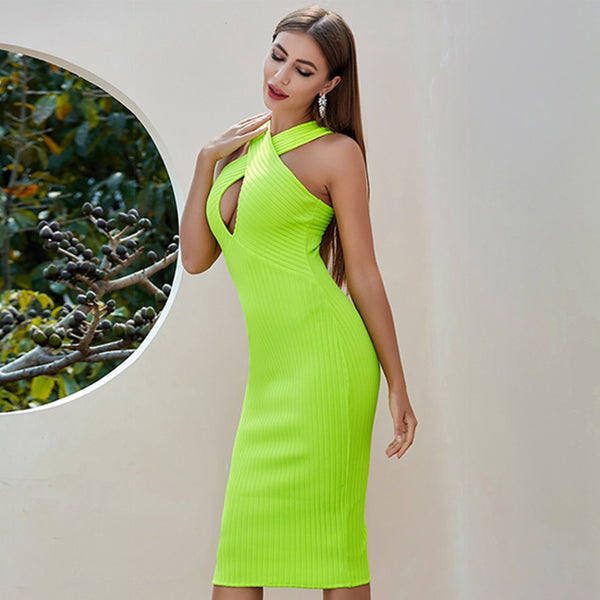 Peekaboo Off Shoulder Light Green Cocktail Dress
