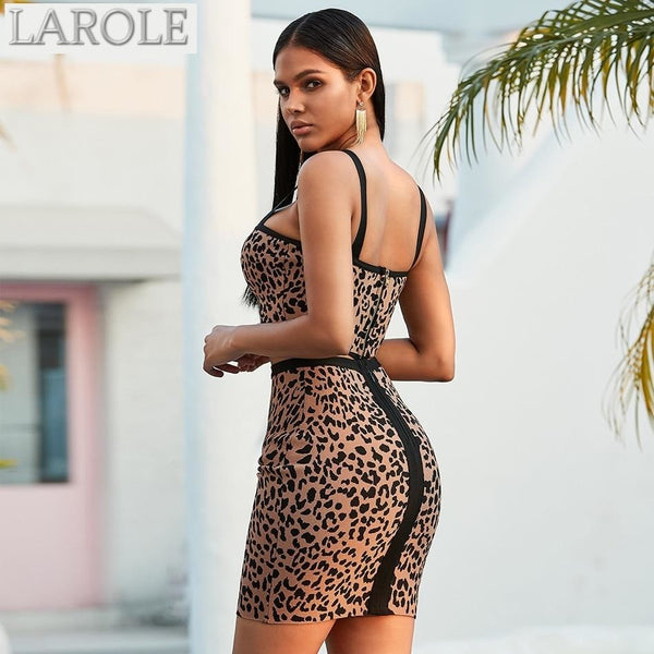 Leopard Print Sleeveless Short Tops & High Waist Short Length Skirt 2 pieces Set