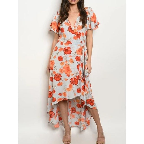 LAROLE| SUMMER TEMPTATION  FLORAL MIDI DRESS