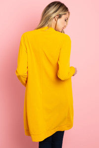 Yellow Long Sleeve Knit Sweater