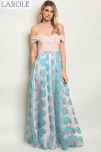 LAROLE | BLUSH BLUE  PROM  DRESS