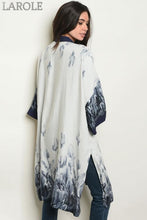 Load image into Gallery viewer, LAROLE GREY NAVY KIMONO